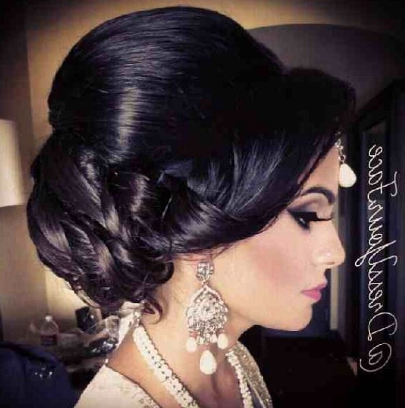 13 Best Mua Images On Pinterest | Half Up Wedding Hair, Bridal With Regard To Latest Indian Updo Hairstyles (View 10 of 15)