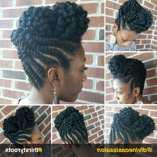13 Natural Hair Updo Hairstyles You Can Create In Most Popular Flat Twist Updo Hairstyles With Extensions (View 2 of 15)