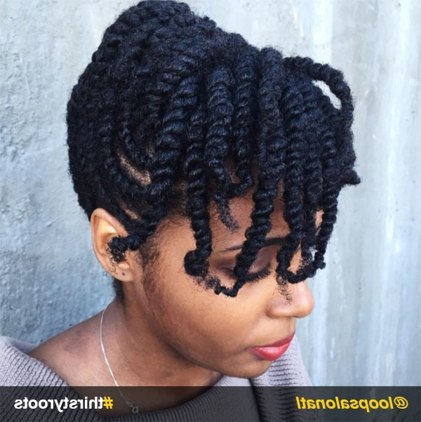 13 Natural Hair Updo Hairstyles You Can Create Intended For Most Recently Two Strand Twist Updo Hairstyles (View 9 of 15)