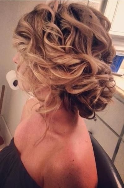 14 Curly Prom Hairstyles With Most Current Curly Bun Updo Hairstyles (View 5 of 15)