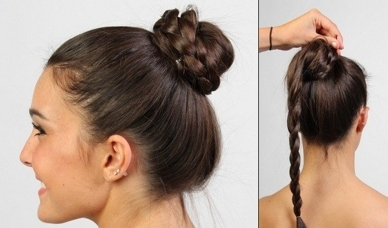 15 Braided Updo Hairstyles Tutorials – Pretty Designs Pertaining To Most Recently Updo Buns Hairstyles (View 2 of 15)