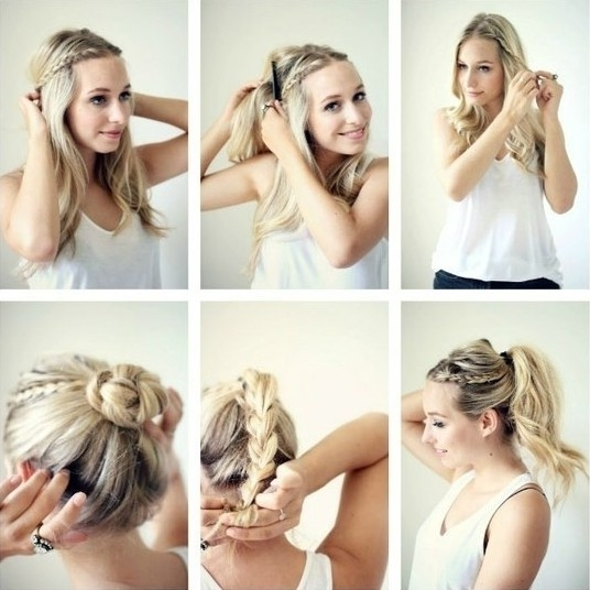 15 Braided Updo Hairstyles Tutorials – Pretty Designs Throughout Most Popular Cute And Easy Updo Hairstyles (View 2 of 15)