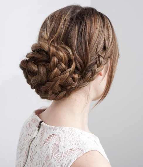 15 Braided Updo Hairstyles Tutorials – Pretty Designs With Regard To Recent Pretty Updo Hairstyles For Long Hair (View 3 of 15)