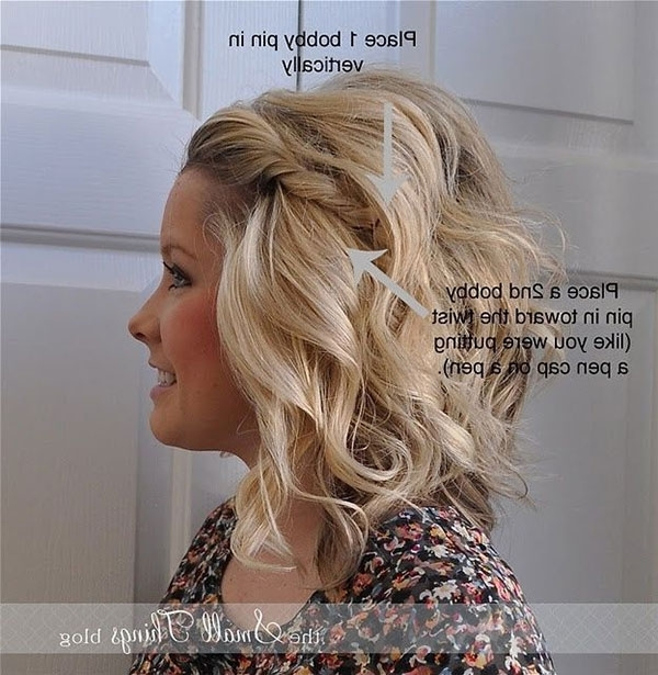 15 Cute And Easy Hairstyle Tutorials For Medium Length Hair – Gurl In Latest Easy Updos For Medium Hair (View 2 of 15)