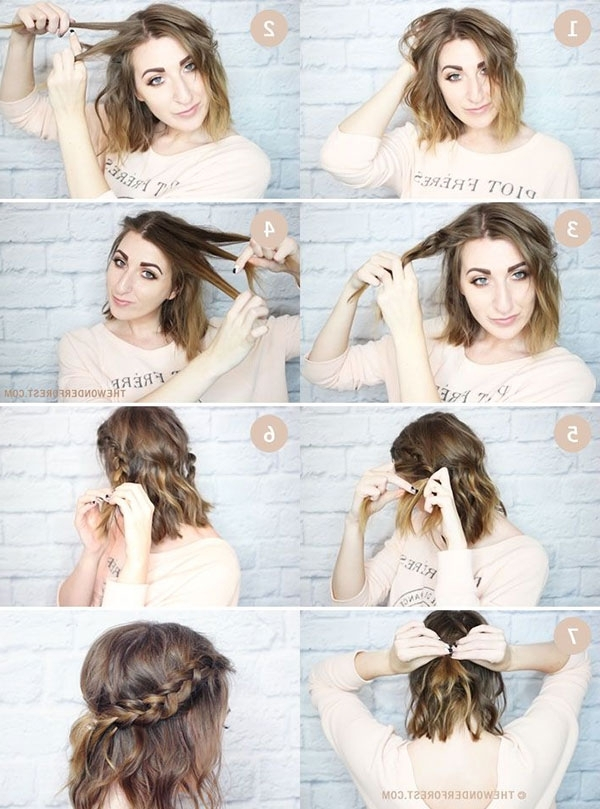 15 Cute And Easy Hairstyle Tutorials For Medium Length Hair – Gurl Inside Current Easy And Cute Updos For Medium Length Hair (View 2 of 15)
