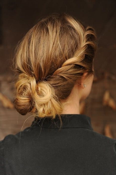15 Fresh Updo's For Medium Length Hair – Popular Haircuts With Regard To Most Current Messy Updos For Medium Length Hair (View 12 of 15)