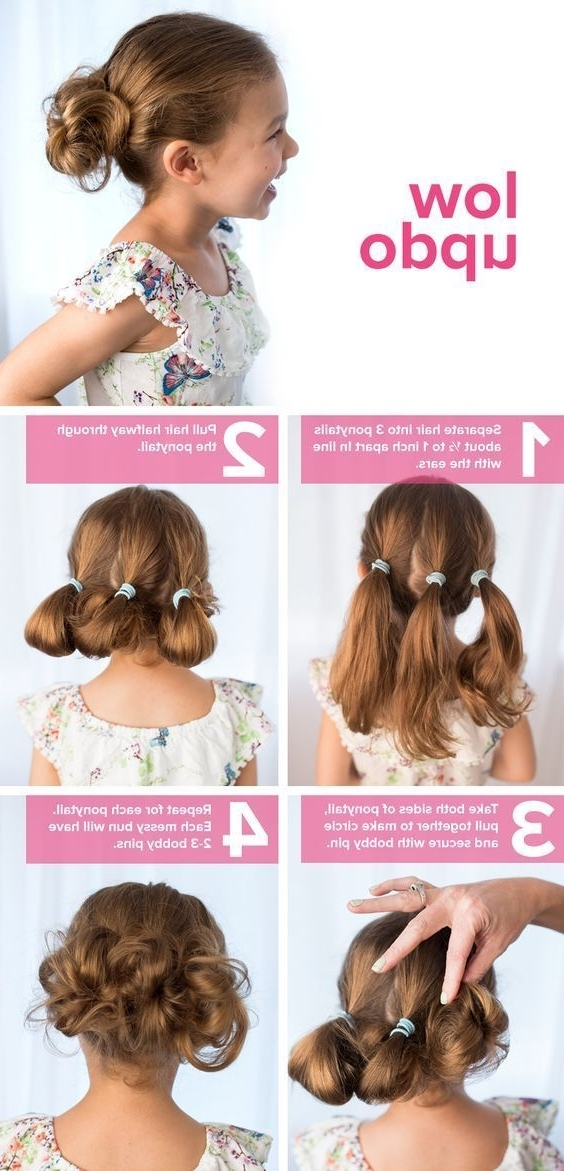 15 Photos Updo Hairstyles For Little Girl With Short Hair
