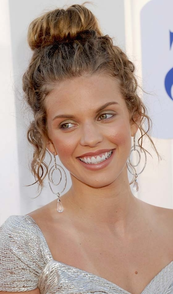15 Glamorous Updos For Curly Hair Intended For Most Recently Hair Updos For Curly Hair (View 1 of 15)