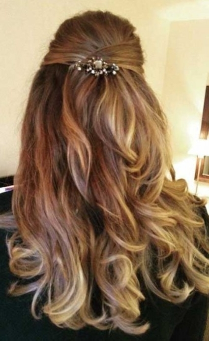 15+ Half Updo Hairstyles | Long Hairstyles 2017 & Long Haircuts 2017 In Most Recently Half Updos For Long Hair (View 12 of 15)