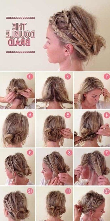 16 Easy And Chic Bun Hairstyles For Medium Hair – Pretty Designs Regarding 2018 Easy Updo Hairstyles For Medium Hair To Do Yourself (View 3 of 15)