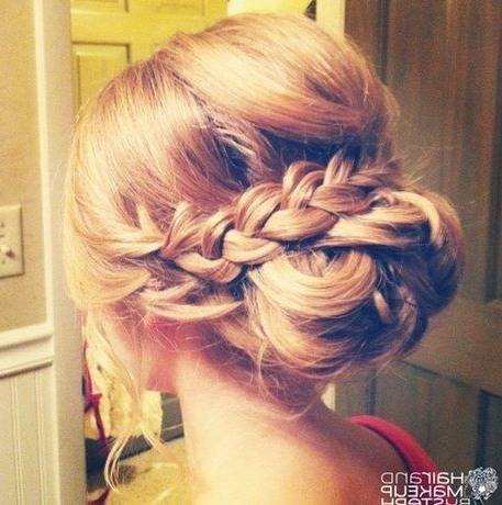 16 Pretty And Chic Updos For Medium Length Hair – Pretty Designs Intended For Newest Chic Updos For Long Hair (View 13 of 15)