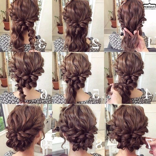 169 Best Hairstyles Images On Pinterest | Hairstyle Ideas, Hair With Regard To Best And Newest Updo Hairstyles For Medium Curly Hair (View 2 of 15)