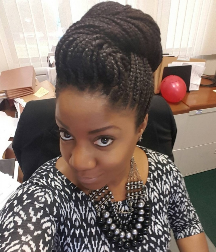 Explore Gallery Of Box Braids Updo Hairstyles Showing 9 Of 15 Photos