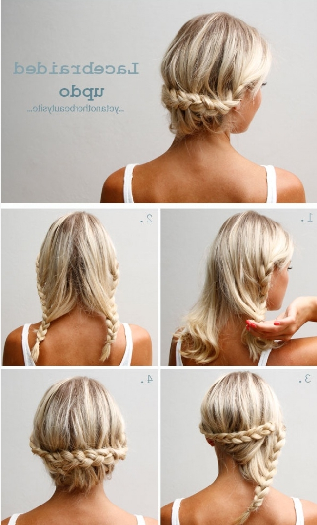 17 Chic Braided Hairstyles For Medium Length Hair Stayglam Hairstyle In Most Up To Date Cute And Easy Updos For Medium Length Hair (View 15 of 15)