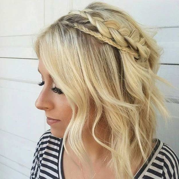 17 Chic Braided Hairstyles For Medium Length Hair | Stayglam Throughout Current Easy Braided Updos For Medium Hair (View 11 of 15)