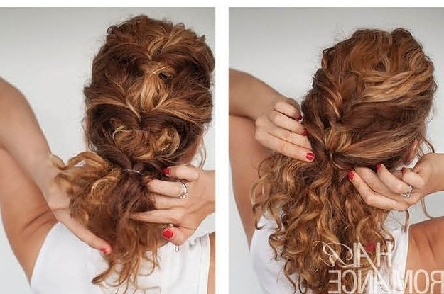17 Incredibly Pretty Styles For Naturally Curly Hair Inside Most Recently Pretty Updo Hairstyles For Long Hair (View 4 of 15)