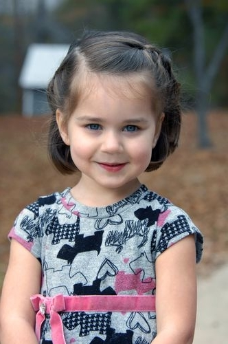 17 Super Cute Hairstyles For Little Girls – Pretty Designs In Most Current Little Girl Updos For Short Hair (View 13 of 15)