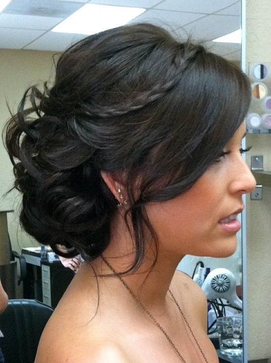 170 Best Las Vegas Wedding Images On Pinterest | Bridal Hairstyles Intended For Most Recent Bridesmaid Updo Hairstyles For Thin Hair (View 15 of 15)