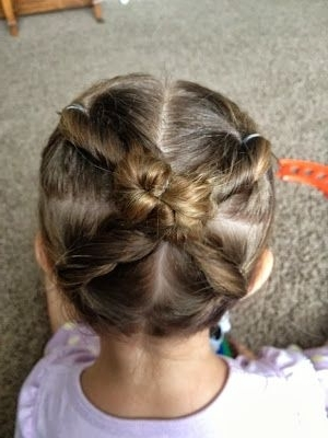 18 Best Little Girls Hair Images On Pinterest | Girls Hairdos, Kid With Most Recent Easy Updo Hairstyles For Kids (View 1 of 15)