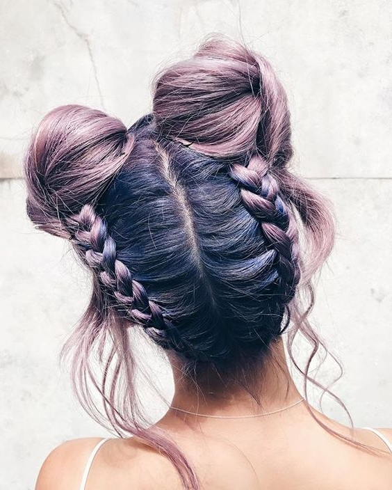 18 Easy Braided Bun Hairstyles To Try Asap – Gurl | Gurl Intended For Recent Braids Updo Hairstyles (View 14 of 15)