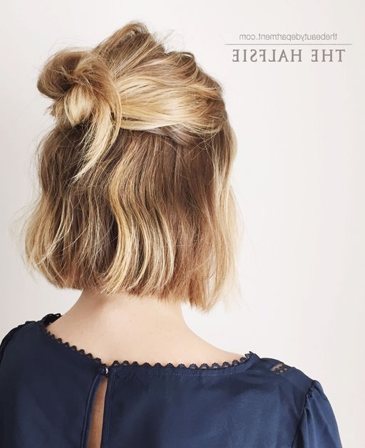 18 Half Up Hairstyles For Short And Medium Length Hair To Try Now With Regard To Current Half Updos For Shoulder Length Hair (View 14 of 15)