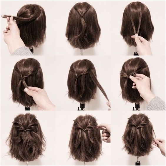 18 Half Up Hairstyles For Short And Medium Length Hair To Try Now With Regard To Most Recent Half Updo Hairstyles For Medium Length Hair (View 5 of 15)