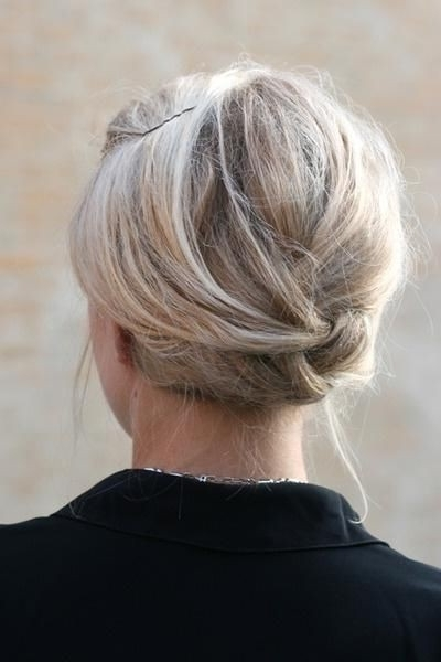 18 Simple Office Hairstyles For Women: You Have To See – Popular With Regard To Newest Easy Elegant Updo Hairstyles For Thin Hair (View 2 of 15)