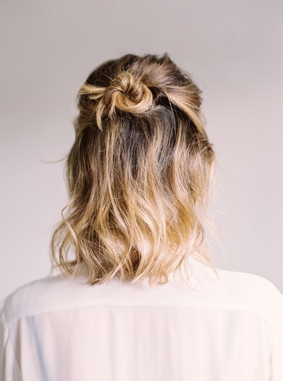 187 Best Curly Date Night Hair Images On Pinterest | Hair Dos Pertaining To Newest Half Updo Hairstyles For Short Hair (View 14 of 15)