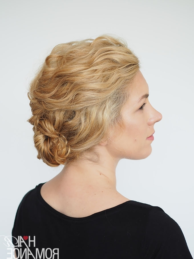 Explore Gallery Of Quick Updo Hairstyles For Curly Hair Showing 9