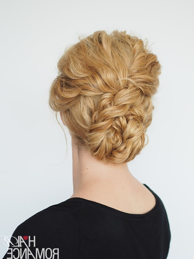 2 Min Updo For Curly Hair – Hair Romance Pertaining To Most Current Quick Updo Hairstyles For Curly Hair (View 3 of 15)