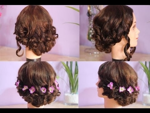 2 Quick And Easy Messy Elegant Updo For Homecoming  Prom – Youtube In Current Homecoming Updo Hairstyles For Short Hair (View 14 of 15)