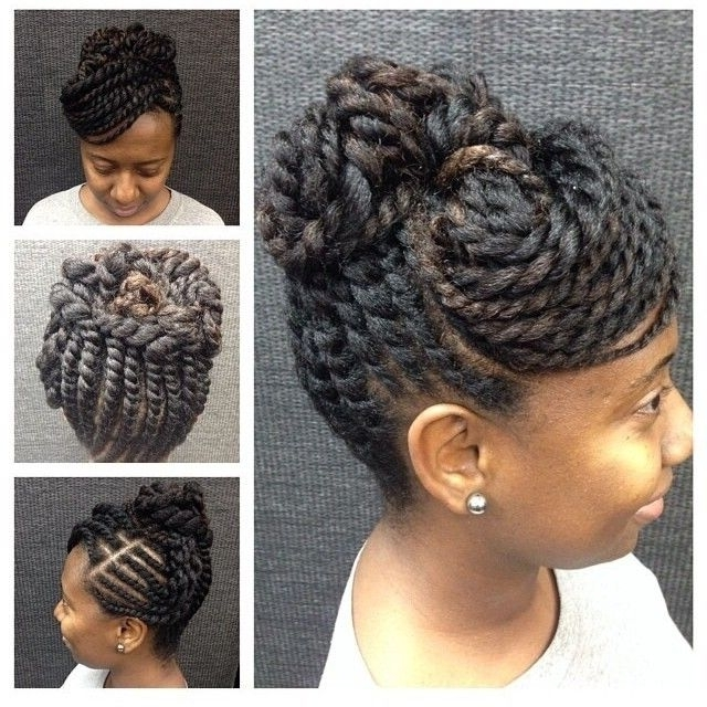 2 Strand Twist Hairstyles Lovely 25 Trending Two Strand Twist Updo With Most Recent Two Strand Twist Updo Hairstyles For Natural Hair (View 11 of 15)