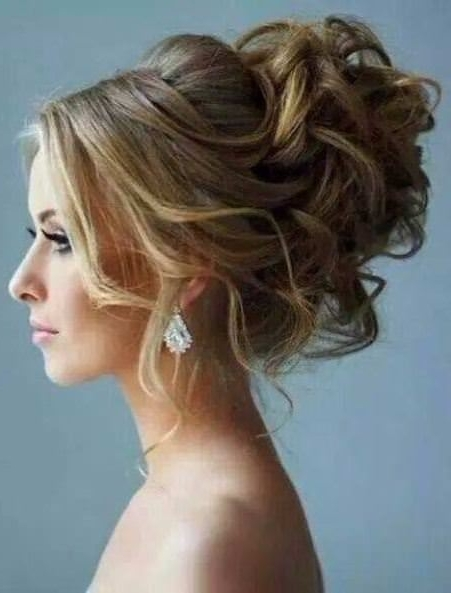 20 Best Updos For Curly Hair In Best And Newest Wispy Updo Hairstyles (View 3 of 15)