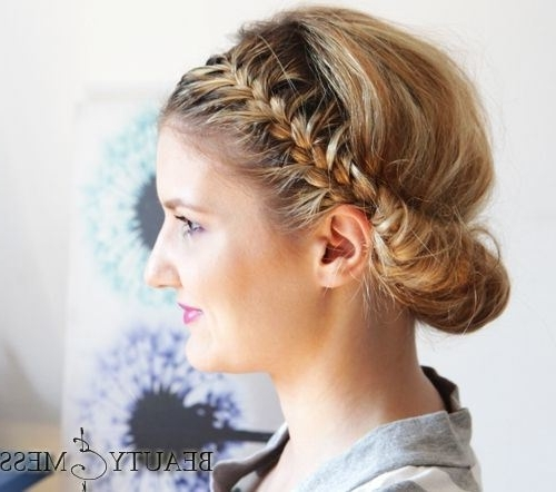 20 Easy And Pretty Updo Hairstyles For Mid Length Hair   Updo, Updos Throughout Current Pretty Updo Hairstyles (View 15 of 15)