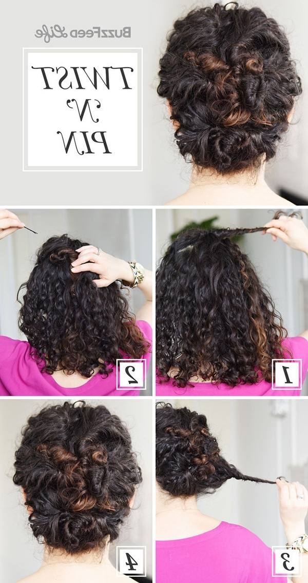 20 Easy No Heat Summer Hairstyles For Girls With Medium Length Hair With Regard To Most Current Updos For Medium Length Curly Hair (View 15 of 15)
