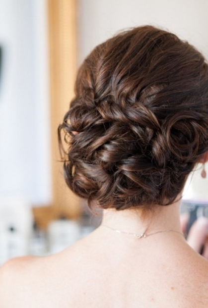20 Glamorous Wedding Updos 2018 – Romantic Wedding Hairstyle Ideas Inside Most Recent Bridesmaid Updo Hairstyles (View 10 of 15)