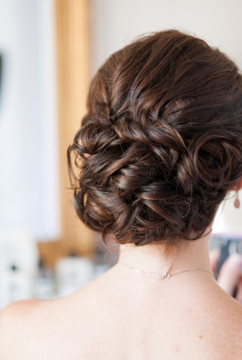 20 Glamorous Wedding Updos 2018 – Romantic Wedding Hairstyle Ideas With Best And Newest Bride Updo Hairstyles (View 14 of 15)