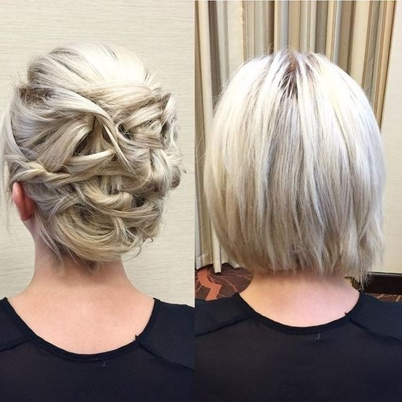 20 Gorgeous Prom Hairstyle Designs For Short Hair: Prom Hairstyles 2017 With Regard To 2018 Bob Updo Hairstyles (View 3 of 15)