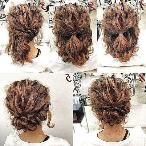 20 Gorgeous Prom Hairstyle Designs For Short Hair: Prom Hairstyles Pertaining To Most Popular Easy Updo Hairstyles For Medium Length Hair (View 6 of 15)