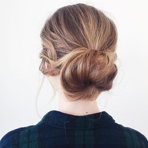 20 Lovely Low Bun Hairstyles | Low Buns, Bun Hairstyle And Low Bun Updo Inside Most Recent Updo Low Bun Hairstyles (View 7 of 15)