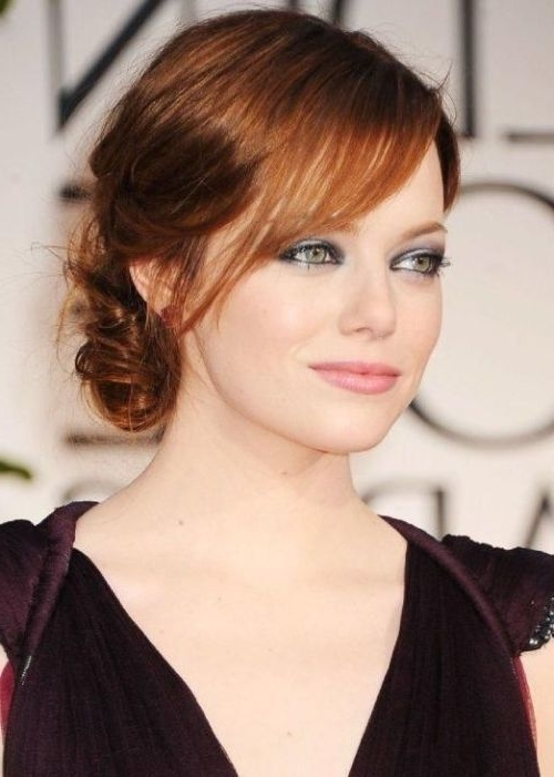 20 Magical Updos Dedicated To Medium Length Hair Within Most Recent Updos For Layered Hair With Bangs (View 3 of 15)