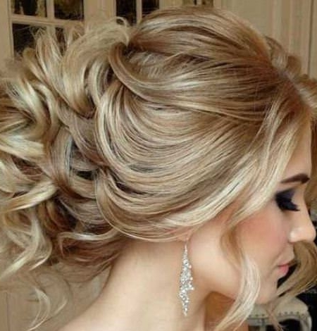 Image Gallery Of Messy Bun Updo Hairstyles View 11 Of 15 Photos