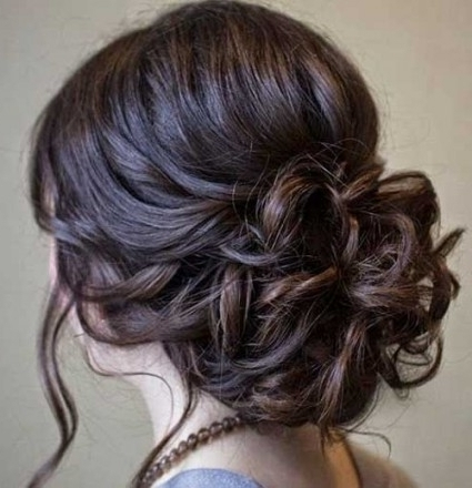 20+ Messy Buns Hairstyles | Long Hairstyles 2017 & Long Haircuts With Most Popular Messy Bun Updo Hairstyles (View 2 of 15)