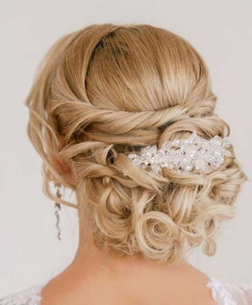 20 Nice Bridal Hairstyles Images | Hairstyles & Haircuts 2016 – 2017 Regarding Newest Updos For Brides With Long Hair (View 4 of 15)