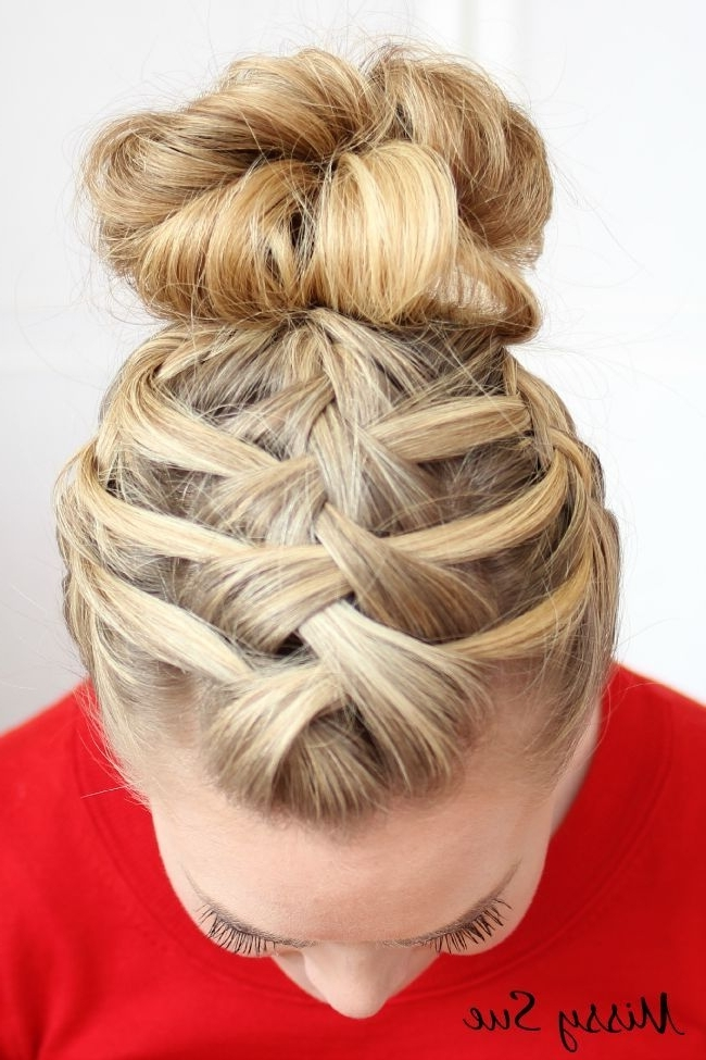 20 Pretty Braided Updo Hairstyles | French Plait, Updo And Simple Inside Most Recent Updo Hairstyles With French Braid (View 2 of 15)
