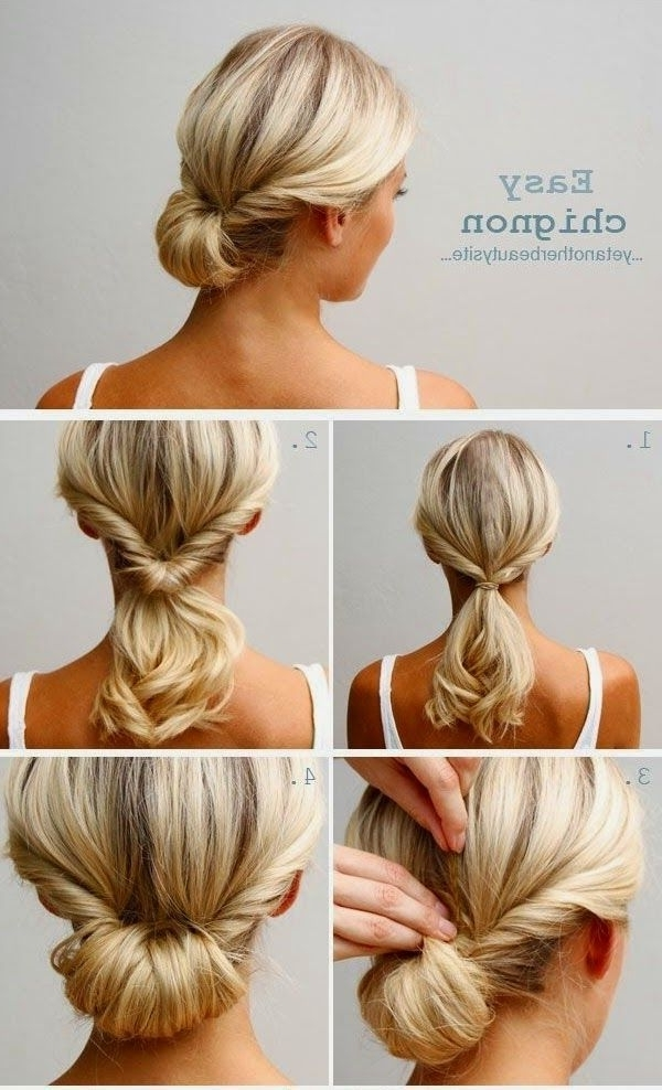 20 Quick Hair Tutorials To Make An Easy Morning | Updo, Hair Style Pertaining To Newest Quick Hair Updo Hairstyles (View 5 of 15)