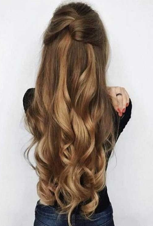 20 Stylish Easy Updos For Long Hair | Long Hairstyle, Updos And Updo Inside Most Up To Date Easy Long Hair Half Updo Hairstyles (View 6 of 15)