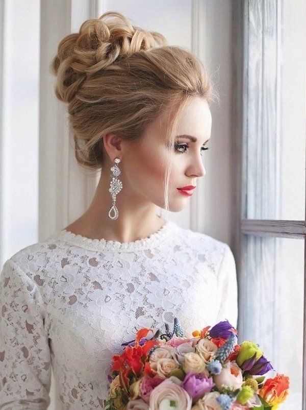 20 Trendy And Impossibly Beautiful Wedding Hairstyle Ideas | Bun Throughout Recent Bridal Bun Updo Hairstyles (View 1 of 15)