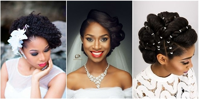 20 Wedding Updo Hairstyles For Black Brides Regarding Latest Updo Hairstyles For Black Bridesmaids (View 4 of 15)