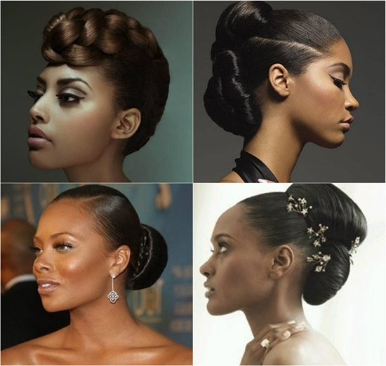 2014 Black Elegant Updos For African American Women – Intended For Recent Updo Hairstyles For African American Long Hair (View 1 of 15)